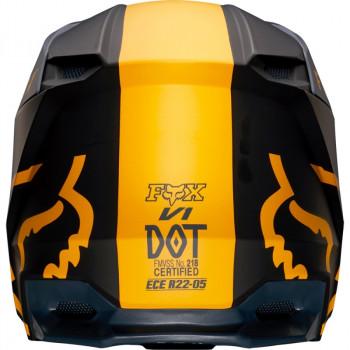 фото 4 Мотошлемы Мотошлем Fox V1 Mata Helmet Navy-Yellow 2XL