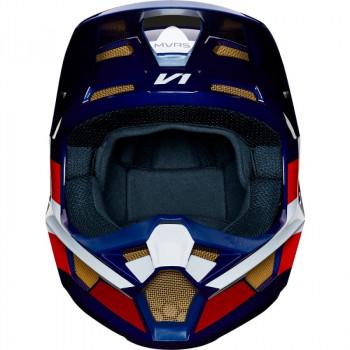 фото 2 Мотошлемы Мотошлем Fox V1 SE MXON White-Red-Blue XL