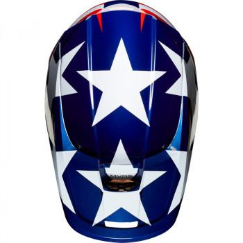 фото 5 Мотошлемы Мотошлем Fox V1 SE MXON White-Red-Blue XL