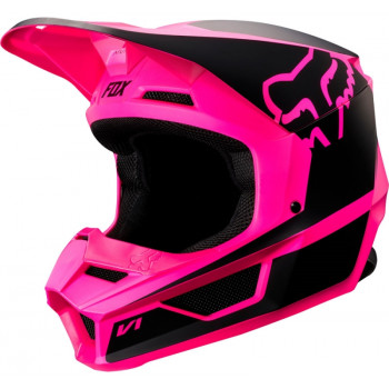 фото 1 Мотошлемы Мотошлем Fox V1 Przm Helmet Black-Pink XS