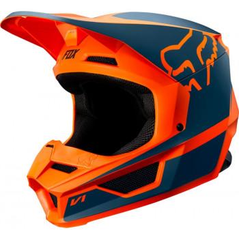 фото 1 Мотошлемы Мотошлем детский Fox Yth V1 Przm Orange YS