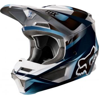 фото 1 Мотошлемы Мотошлем Fox V1 Motif Blue-Grey S