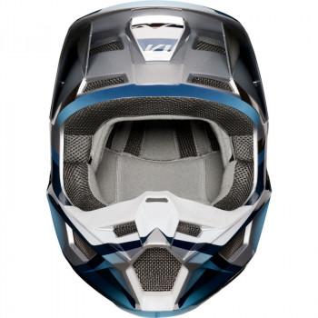 фото 2 Мотошлемы Мотошлем Fox V1 Motif Blue-Grey S