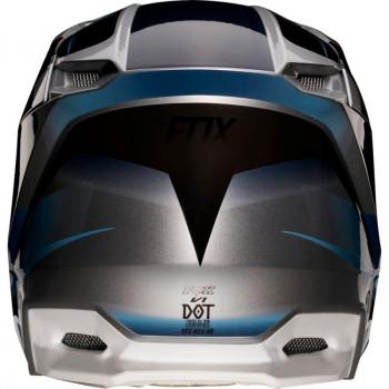 фото 4 Мотошлемы Мотошлем Fox V1 Motif Blue-Grey S