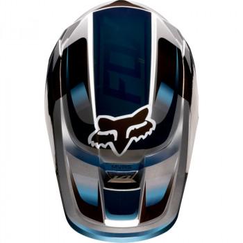 фото 5 Мотошлемы Мотошлем Fox V1 Motif Blue-Grey S