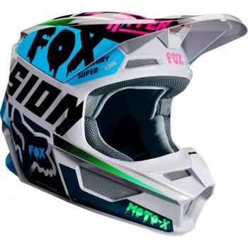 фото 3 Мотошлемы Мотошлем Fox V1 Czar Helmet Light Grey S
