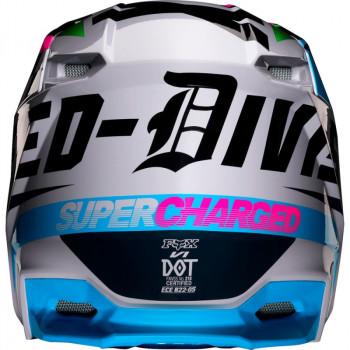 фото 4 Мотошлемы Мотошлем Fox V1 Czar Helmet Light Grey S