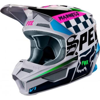 фото 1 Мотошлемы Мотошлем Fox V1 Czar Helmet Light Grey M