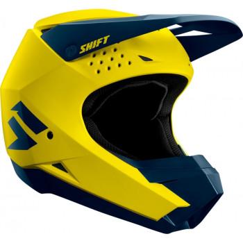 фото 3 Мотошлемы Мотошлем SHIFT Whit3 Helmet Yellow-Navy XS