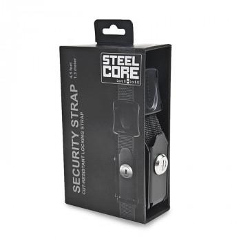 фото 1 Аксессуары для транспортировки Стропы с вмонтированными тросами STEELCORE Security Strap - Black