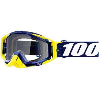 фото 1 Кроссовые маски и очки Мото очки 100% RACECRAFT Goggle Bibal/Navy - Clear Lens