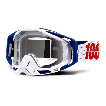 фото 1 Кроссовые маски и очки Мото очки 100% RACECRAFT Goggle Bibal/White - Clear Lens