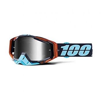 фото 2 Кроссовые маски и очки Мото очки 100% RACECRAFT Goggle Ergono - Mirror Silver Lens