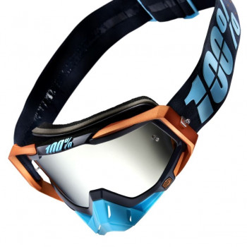 фото 1 Кроссовые маски и очки Мото очки 100% RACECRAFT Goggle Ergono - Mirror Silver Lens