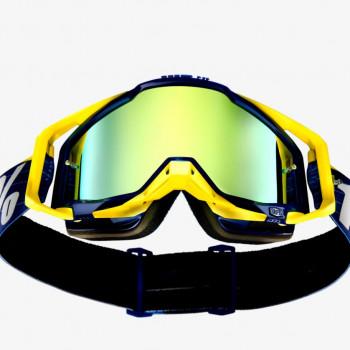 фото 2 Кроссовые маски и очки Мото очки 100% RACECRAFT Goggle Bibal/Navy - Mirror Gold Lens