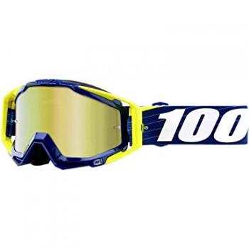 фото 1 Кроссовые маски и очки Мото очки 100% RACECRAFT Goggle Bibal/Navy - Mirror Gold Lens