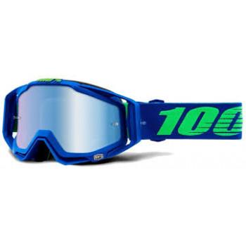 фото 1 Кроссовые маски и очки Мото очки 100% RACECRAFT Goggle Dreamflow - Mirror Blue Lens