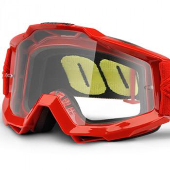 фото 1 Кроссовые маски и очки Мото очки 100% ACCURI OTG Goggle Saarinen - Clear Lens