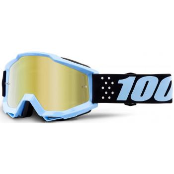 фото 1 Кроссовые маски и очки Мото очки 100% ACCURI Goggle Taichi - Mirror Gold Lens