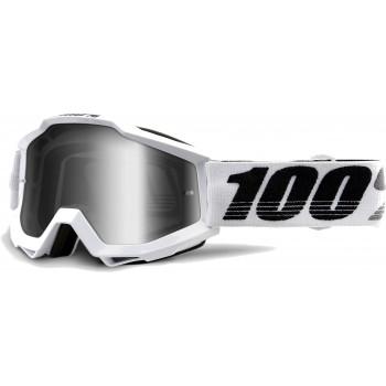 фото 1 Кроссовые маски и очки Мото очки 100% ACCURI Goggle Galactica - Mirror Silver Lens