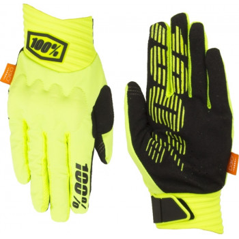 фото 2 Мотоперчатки Мотоперчатки 100% Cognito Glove Fluo Yellow-Black M (9)