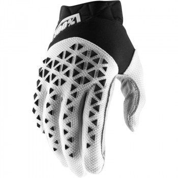 фото 1 Мотоперчатки Мотоперчатки 100% Airmatic Glove Black-White-Silver M (9)