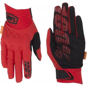 фото 2 Мотоперчатки Мотоперчатки 100% Cognito Glove Red-Black M (9)