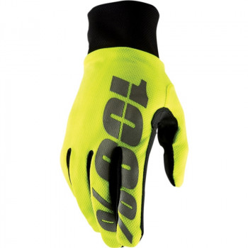 фото 1 Мотоперчатки Мотоперчатки 100% Hydromatic Waterproof Glove Neon Yellow M (9)