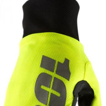 фото 2 Мотоперчатки Мотоперчатки 100% Hydromatic Waterproof Glove Neon Yellow S (8)