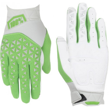 фото 2 Мотоперчатки Мотоперчатки 100% Airmatic Glove Silver-Fluo Lime XL (11)
