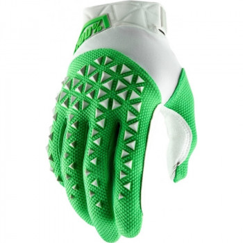 фото 1 Мотоперчатки Мотоперчатки 100% Airmatic Glove Silver-Fluo Lime L (10)