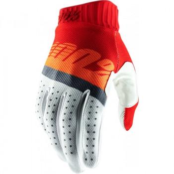 фото 1 Мотоперчатки Мотоперчатки 100% Ridefit Glove Red-Fluo Orange-Slate Blue L (10)