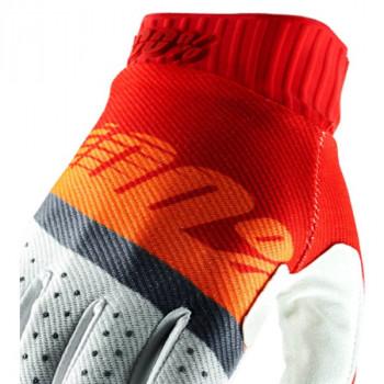 фото 2 Мотоперчатки Мотоперчатки 100% Ridefit Glove Red-Fluo Orange-Slate Blue L (10)