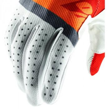 фото 3 Мотоперчатки Мотоперчатки 100% Ridefit Glove Red-Fluo Orange-Slate Blue L (10)