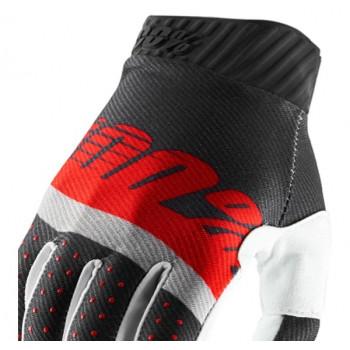 фото 3 Мотоперчатки Мотоперчатки 100% Ridefit Glove Steel Grey-Red XL (11)