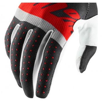 фото 4 Мотоперчатки Мотоперчатки 100% Ridefit Glove Steel Grey-Red XL (11)
