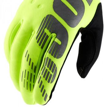 фото 4 Мотоперчатки Мотоперчатки 100% Brisker Cold Weather Fluo Yellow XL (11)