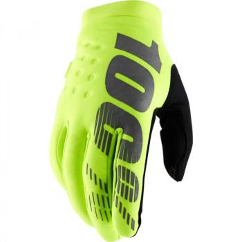 фото 1 Мотоперчатки Мотоперчатки 100% Brisker Cold Weather Fluo Yellow L (10)