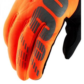 фото 4 Мотоперчатки Мотоперчатки 100% Brisker Cold Weather Fluo Orange-Black XL (11)