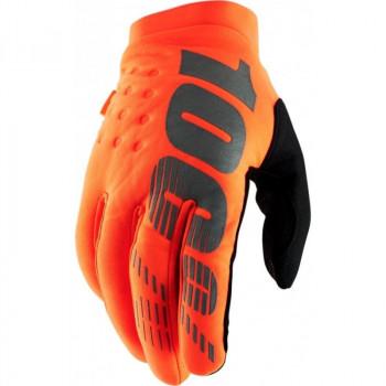 фото 1 Мотоперчатки Мотоперчатки 100% Brisker Cold Weather Fluo Orange-Black M (9)