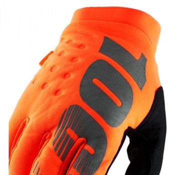 фото 3 Мотоперчатки Мотоперчатки 100% Brisker Cold Weather Fluo Orange-Black M (9)