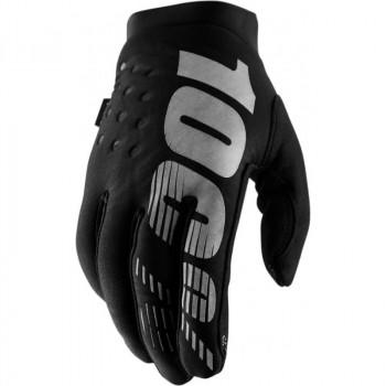 фото 1 Мотоперчатки Мотоперчатки женские 100% Brisker Cold Weather Black-Grey S (8)