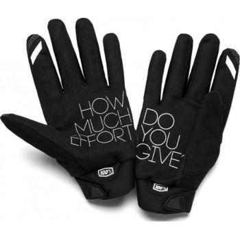 фото 2 Мотоперчатки Мотоперчатки женские 100% Brisker Cold Weather Black-Grey S (8)