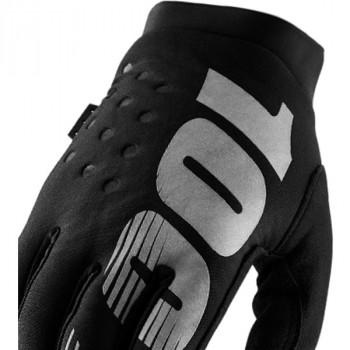 фото 3 Мотоперчатки Мотоперчатки женские 100% Brisker Cold Weather Black-Grey S (8)
