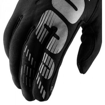 фото 4 Мотоперчатки Мотоперчатки женские 100% Brisker Cold Weather Black-Grey S (8)