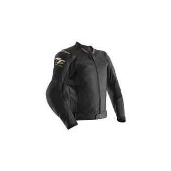фото 1 Мотокуртки Мотокуртка RST IOM TT Grandstand CE Mens Leather Jacket Black 56