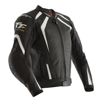 фото 1 Мотокуртки Мотокуртка RST IOM TT Grandstand CE Mens Leather Jacket Black-White 54