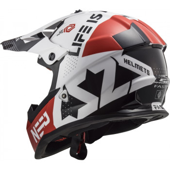 фото 7 Мотошлемы Мотошлем LS2 MX437 Fast Block White-Red S