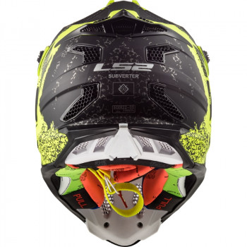 фото 5 Мотошлемы Мотошлем LS2 MX470 Subverter Claw Matt Black-H-V Yellow XL