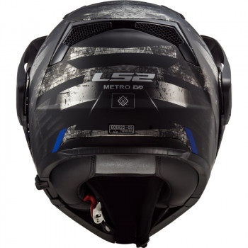 фото 5 Мотошлемы Мотошлем LS2 FF324 Metro Evo P/J Buzz Matt Black-Titanium-Blue XL